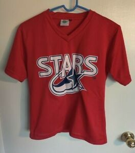 Vintage 90s 00s Huntsville Stars Youth Red Promotional Jersey Shirt L Large