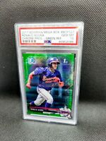 2017 1st Bowman Chrome Ronald Acuna Jr RC Mega Green Refractor /99 PSA 10 BCP127