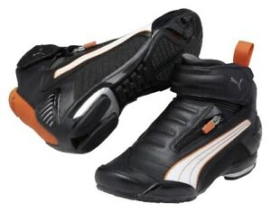 PUMA 250 Testastretta 4 Mid motorcycle boots, black-orange-white, new!!!