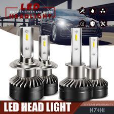 H1 + H7 LED Headlight Bulb Hi/Lo Kit 6000K for Hyundai Sonata Elantra Xenon HID