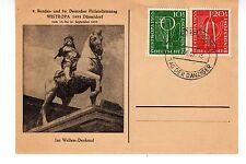 1955 Germany Scott B342-B343 Westropa Fdc on postcard