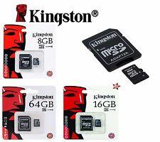 KINGSTON MICRO SD 4 / 8 / 16 GB CLASSE 4 / 10 MICROSD SCHEDA MEMORIA MEMORY CARD