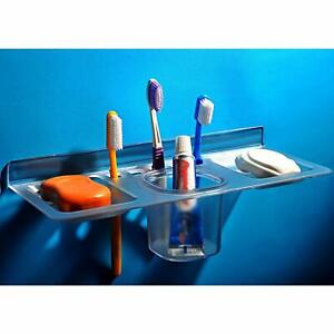 Toothbrush Holder QUICK SILVER Acrylic Unbreakable Four in one Tumbler