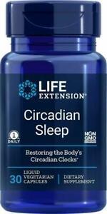 CIRCADIAN SLEEP 30 Liquid Vegetarian Capsules BETTER SLEEP LIFE EXTENSION