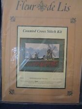 Windmills & Tulips Fleur de Lis EPX59 NIP Counted Cross Stitch Kit UK Made 1997