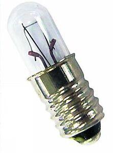 5 Skalenlampen Glühlampe Skalenlampe E10 6,3V 0,3A 1,9W Glühbirne Röhrenlampe