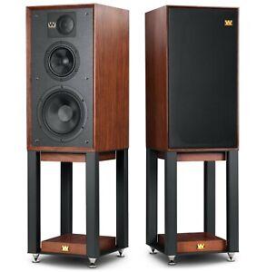 Wharfedale Linton Speakers - Walnut with Stands - Floor Standing Loudspeakers