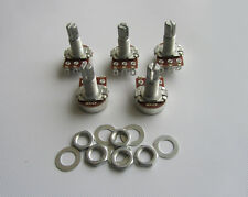 5x A500K Audio Electric Guitar Mini Pots Long Split Shaft 500K Potentiometer