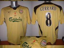 Liverpool Gerrard M USA Tour 2004 Reebok fútbol de Inglaterra y de Camisa Jersey