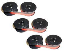 3 Farbband Gr. 8 Olivetti Studio 42 44 45 46 Lettera 32 Nylon rot-schwarz Ribbon