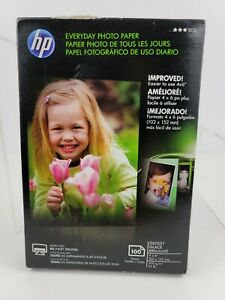 New Sealed HP CR759A Everyday Glossy Photo Paper - 100 Sheets 4 x 6 in
