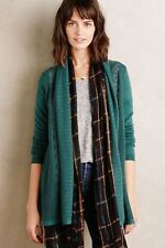 NIP Anthropologie Messina Cardigan Sweater by Knitted & Knotted, XL, Green