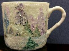 Hand painted sparkling snow glaze white porcelain  espresso cup Lafollette 2000