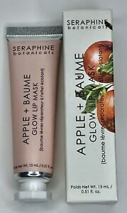 Seraphine Botanicals Apple + Baume Glow Lip Mask NIB 0.5 fl oz/15 ml Full Size