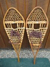 "NICE Pair SNOWSHOES 41"" Long x 12"" Wide GROS LOUIS  with Bindings READY TO USE"