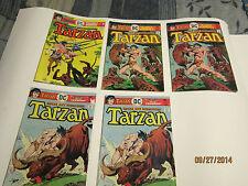 Edgar Rice Burroughs Tarzan comics lot from 1976