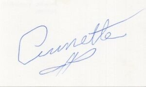 Annette Funicello - Actress: The Mickey Mouse Club - Signed 3x5 Card