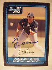 YUNG-CHI CHEN signed MARINERS 2006 Bowman Prospect baseball card AUTO TAIWAN B64