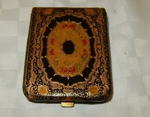 Vintage Tooled & Gilded Leather Calling Card Case