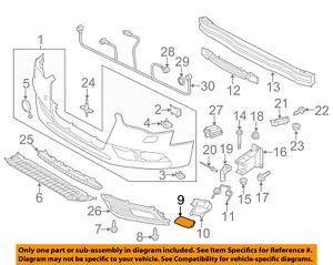 AUDI OEM 13-16 A4 Quattro Front Bumper Grille Grill-Cap Right 8K0955276HGRU