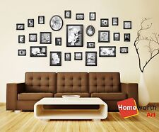 28 pcs photo picture frame wall art collection decor  frames  gift black