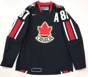 SIDNEY CROSBY TEAM CANADA 2006 WORLD CHAMPIONSHIP BLACK NIKE JERSEY MEDIUM
