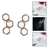 Honeycomb Bee Hive Beehive Stud Earrings Geometric Minimalist Design Beauty