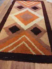 More details for vintage/antique rug 1970s woollen rug - turkish, afgan, belgium - carpet runner