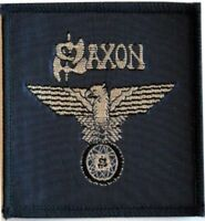 SAXON 'Wheels of Steel'  navy blue  sew on woven vintage patch