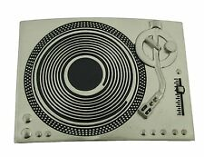 Turntable Dj Belt Buckle mens womenssilver girly music country western cowboy