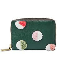 Fossil Wallet RFID Mini Zip Card Case Leather