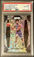 2017 Panini Prizm Fast Break Prizm De'Aaron Fox Rookie RC #24 PSA 10 GEM MINT