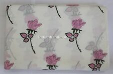 10 Yard Indian Hand Block Print Cotton Voile Fabric Sewing Material Fabric 61