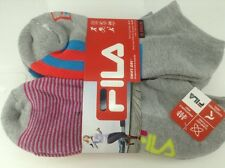 Women's FILA Brand Gray Colors Athletic Socks - 6 Pack - $36 MSRP - 30% off