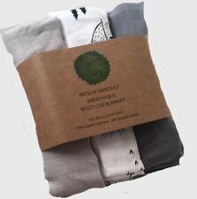 Organic Muslin Swaddle, 70% Organic Bamboo/30% Organic Cotton, 3 60x60 cm