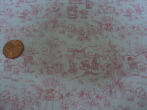 DOLLHOUSE WALLPAPER- PLAYLAND TOILE-PINK-188D234