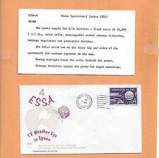 ESSA 4 TV WEATHER EYE IN SPACE JAN 26,1967 VANDENBERG AFB  SPACE CRAFT SWANSON