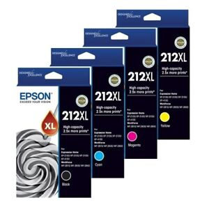 Genuine Epson 212XL High Yield Ink Cartridges For XP-2100/3100/3105/4100