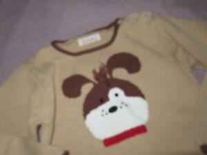 nwot Zubels beige puppy dog cotton sweater boy 4 free ship USA