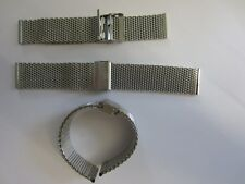 Artesanía local de acero inoxidable banda relojes pulsera milanaiseband steg ancho 24mm