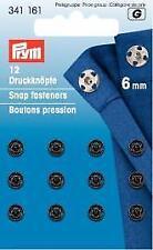 Prym Annäh-Druckknöpfe, 6mm, schwarz 341161