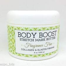 Body Boost Stretch Mark Butter Collagen & Elastin Firming FRAGRANCE FREE 8 oz