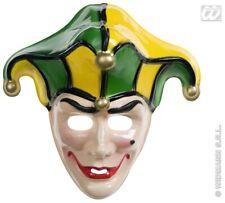 Court Jester Medieval Joker Face Mask Clown Halloween Fancy Dress Clr