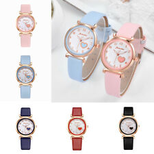 Women Wrist Watches Casual Quartz Leather Strap Band Round Analog Watch Fashion