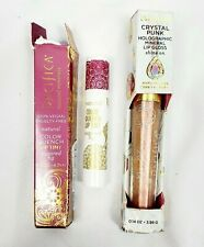 Pacifica Color Quench Lip Tint Sugared Fig & Crystal Punk Holographic Gloss Halo