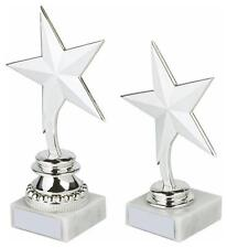 Silver star Multisports Trophy,Award,2 Sizes,FREE Engraving (297)