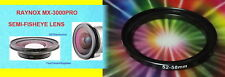 0.3X RAYNOX MX-3000 Pro ULTRA Wide Angle SEMI-FISHEYE LENS 52mm-58mm MX3000 SONY