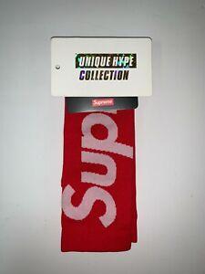 SUPREME 2021 S/S NIKE LIGHTWEIGHT CREW SOCKS BOX LOGO RED SIZE 3 8-9.5 IN HAND