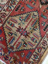 3.8 x 10.9 Vintage Caucasian Oushak Heriz Serapi Antique Kazak Shirvan Tribal