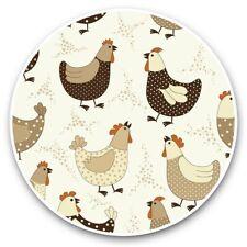 2 x Vinyl Stickers 30cm - Cartoon Chickens Hens Chicken Bird  #44525